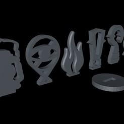 Descargar modelos 3D gratis Tokens para la mansiones de la locura, Guerrero3d