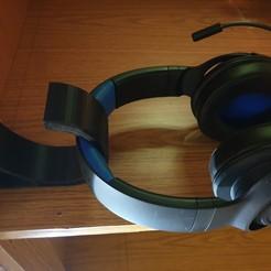 Download free 3D printing designs Headphone holder (under table), 3DSJC