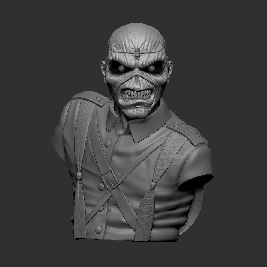 c_ZBrush Document1.jpg Download STL file Eddie - The Trooper [Iron Maiden] • 3D printable object, stonestef