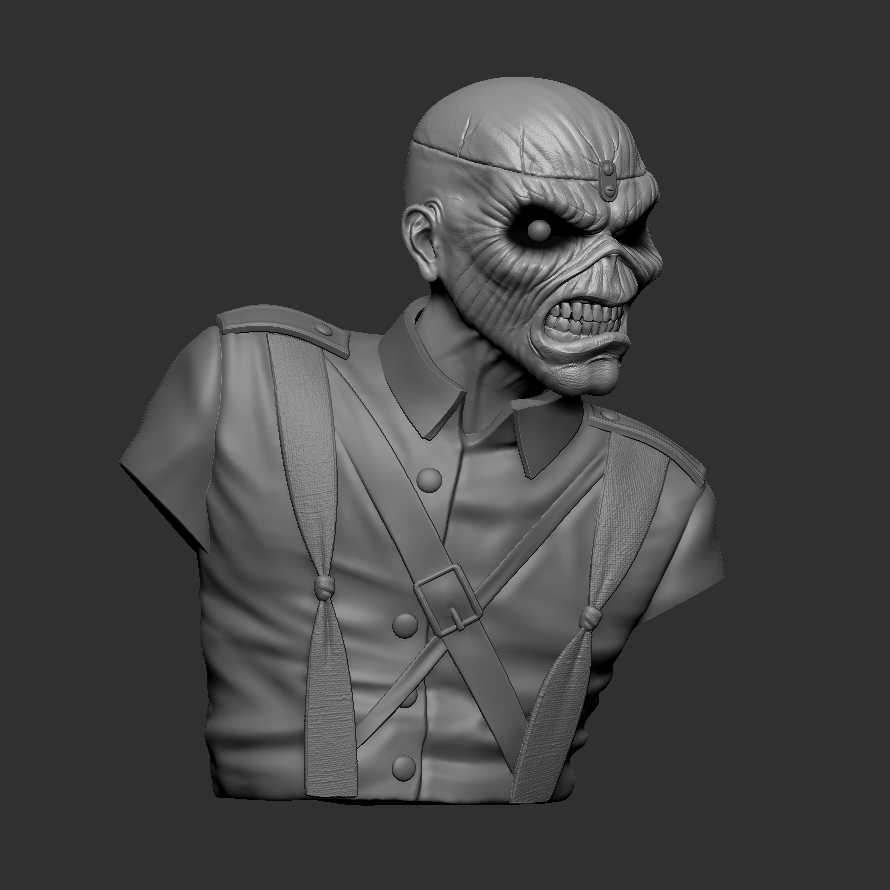 c_ZBrush Document2.jpg Download STL file Eddie - The Trooper [Iron Maiden] • 3D printable object, stonestef
