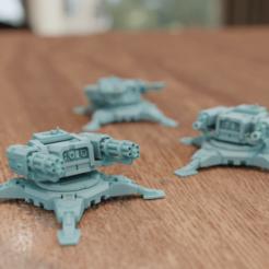Descargar modelo 3D gratis Torreta SciFi Sentry, mrmcangry