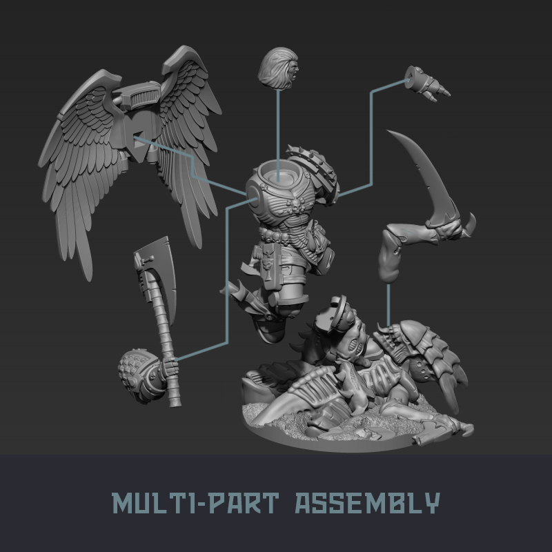 """9.jpg Download STL file Austin the """"Space Vampire Executioner"""" • Model to 3D print, mrmcangry"""