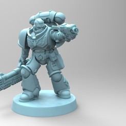 Imprimir en 3D gratis Primaris Hellblaster Sgt - Blood Angels, mrmcangry