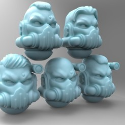 Download free 3D model Space Warrior Suppressor Sergeant Heads, mrmcangry