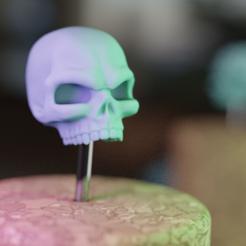 skullb.png Download free STL file Grim Stylized Skull • 3D printing model, mrmcangry