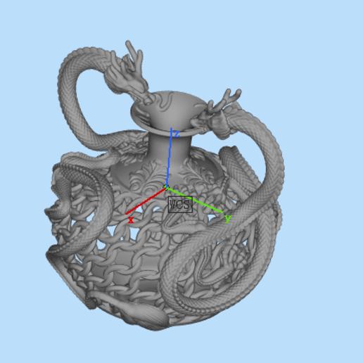 Download free 3D printer templates Dragon bottle, 2556195760