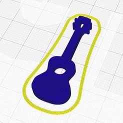 ukulelekeyholder.jpg Download free STL file Ukulele KeyChain • Object to 3D print, Dr4l3g