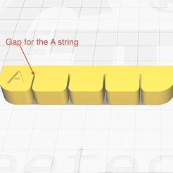 ukulelestringsmute.jpg Download free STL file Ukulele Strings Mute - Tenor Size • 3D print model, Dr4l3g