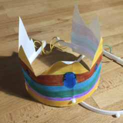 Download free STL file Modular Paper Princess Crown • Model to 3D print, Dr4l3g