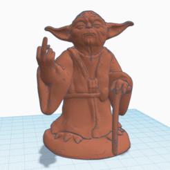 Télécharger fichier STL gratuit Yoda, doigt du milieu • Objet imprimable en 3D, Dr4l3g