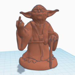 Download free STL file Middle Finger Yoda • 3D print object, Dr4l3g