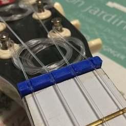 1.jpg Download free STL file Ukulele Nut - Guitar Janod • 3D printable model, Dr4l3g
