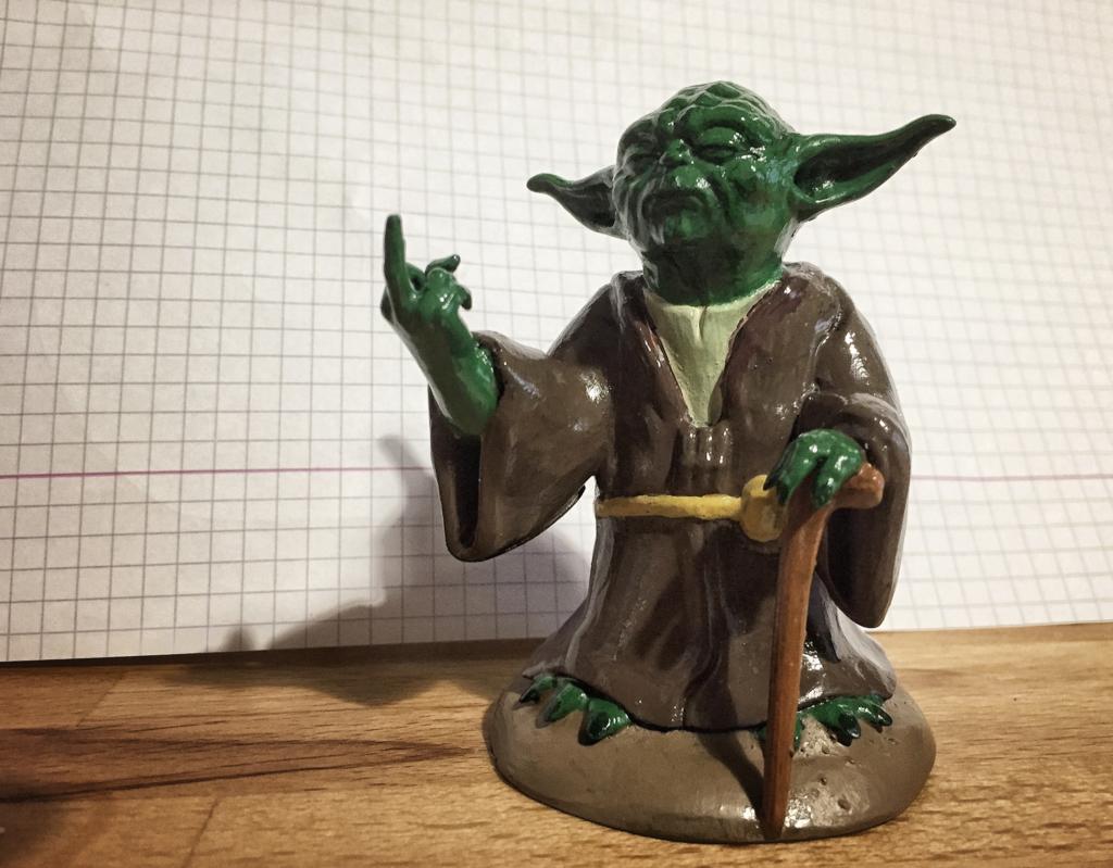 3.png Télécharger fichier STL gratuit Yoda, doigt du milieu • Objet imprimable en 3D, Dr4l3g