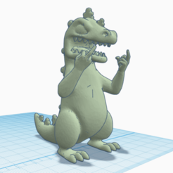 preview.png Download free STL file Middle Finger Reptar • 3D print model, Dr4l3g