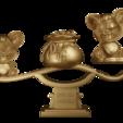 "Download free 3D printing models Auspicious Ankang ""rat"" to you-3D original model, Fiona"