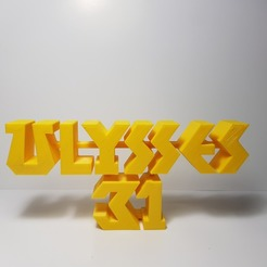 Télécharger fichier 3D gratuit LOGO ULYSSE 31 , imprimans