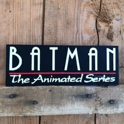 Télécharger modèle 3D LOGO BATMAN THE ANIMATED SERIES , imprimans