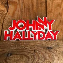 Imprimir en 3D gratis LOGO DE JOHNNY HALLIDAY, imprimans