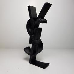 Télécharger fichier 3D gratuit logo yves saint laurent, imprimans