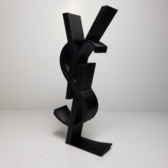 Download free 3D printing models yves saint laurent logo, imprimans