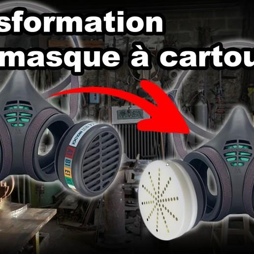Télécharger STL Cartouche remplissable masque MOLDEX Série 8000 (Refillable Cartridge Adapter), Crazymakers