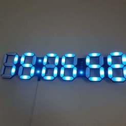 Descargar modelo 3D gratis Reloj de Leds RVB (Horloge LEDS RVB), Crazymakers