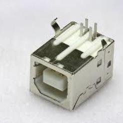 Descargar modelos 3D gratis Fijación de enchufe hembra USB tipo B, Crazymakers