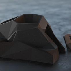 DeskOrganizer_realistic.40k_1.jpg Télécharger fichier 3MF Organisateur géométrique de bureau • Design imprimable en 3D, Everade