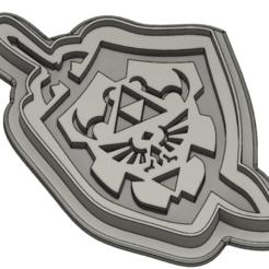 Télécharger plan imprimante 3D Coupe-biscuits Hyrule Shield Master Sword, biniecki