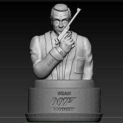 1.JPG Télécharger fichier STL Buste 007 Sean Connery • Objet à imprimer en 3D, josefaedda45
