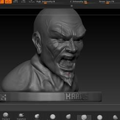 Download OBJ file kratos head • Template to 3D print, josefaedda45