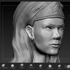 face.jpg Download STL file wonder woman • 3D printable template, josefaedda45