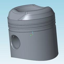 Télécharger STL gratuit piston 2cv moteur 435cc, tedd3d