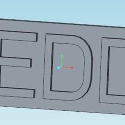 TEDDY.jpg Télécharger fichier STL gratuit Porte-clés prénom: TEDDY/First name keychain: TEDDY • Plan pour imprimante 3D, tedd3d