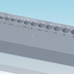 porte_foret_v1.jpg Download STL file Drill holder 1 stage - porte foret 1 étage - drill holder 1 stage • 3D print template, tedd3d