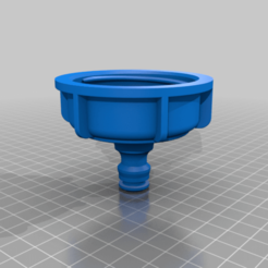 Download STL water tank adapter S60x6 >> quick coupling, tedd3d