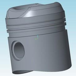 Descargar Modelos 3D para imprimir gratis motor pistón 2cv 602cc, tedd3d