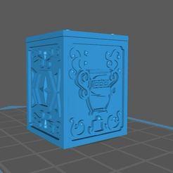 Imprimir en 3D gratis caja de acuario de san seiya, franckeli