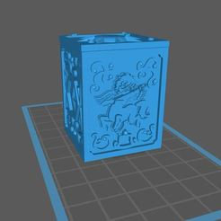 Imprimir en 3D gratis caja de san seiya sagitario, franckeli