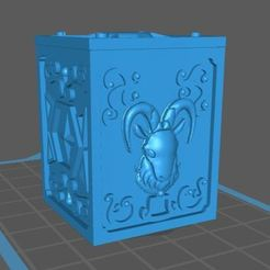 Descargar diseños 3D gratis caja de san seiya aries, franckeli