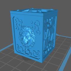 Captura.JPG Download free STL file saint seiya leo box • 3D printing design, franckeli