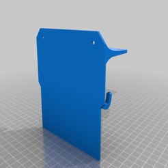 Download free STL file Key hook and tray with extended back • 3D printer template, mforry