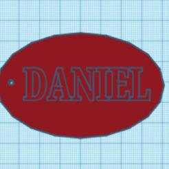 Télécharger objet 3D Nom du porte-clés Daniel, Danielzr