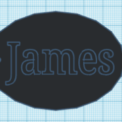 James.png Download STL file Key ring name James • 3D printable object, Danielzr