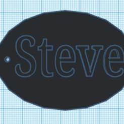 Steve.png Télécharger fichier STL Nom du porte-clés Steve • Objet à imprimer en 3D, Danielzr
