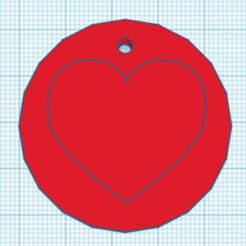 Télécharger fichier imprimante 3D Porte-clés amour, Danielzr