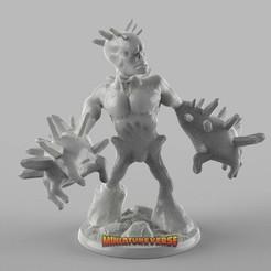 Descargar modelos 3D gratis Spikey Alien Miniatura, Miniatureverse