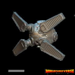 shield drone 1.png Télécharger fichier STL Bourdon Bouclier • Objet imprimable en 3D, Miniatureverse