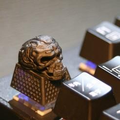 1.jpg Download STL file Skull Keycap for Cherry MX • Design to 3D print, okacreate