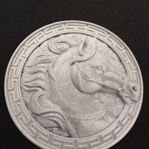 Download free 3D printer designs horse head pendant, Alkhimey